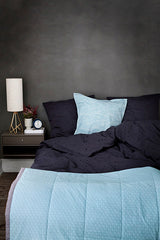 Poipoi Bedding in Dusty Aqua by OYOY