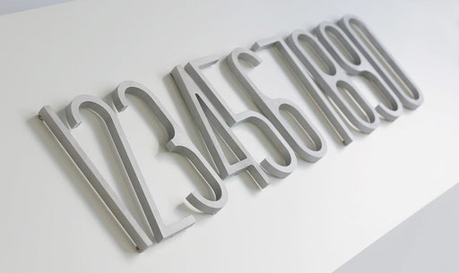 VM-001 House Numbers Aluminum by LIXHT (Made in Canada)
