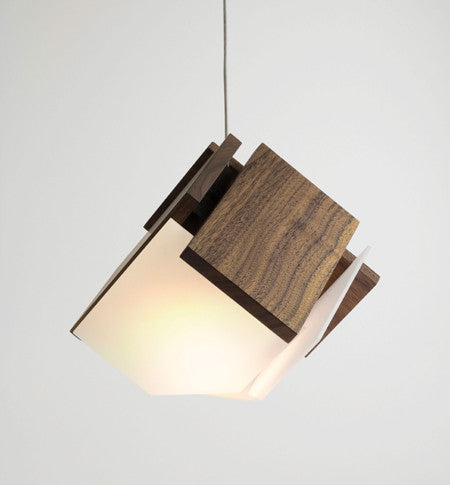 Mica LED Pendant by Cerno Made in USA