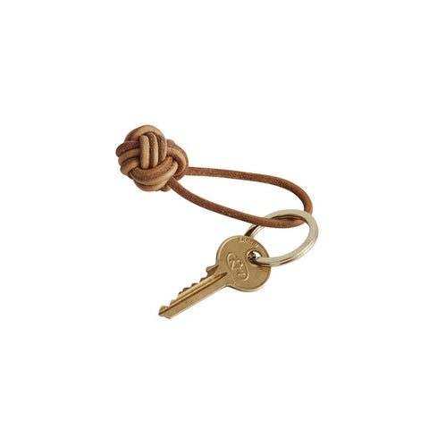 Leather Knot Keyring by OYOY