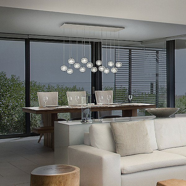 Jefferson LED 14-Light Rectangular Mini Multi-Light Pendant Light by Studio Italia