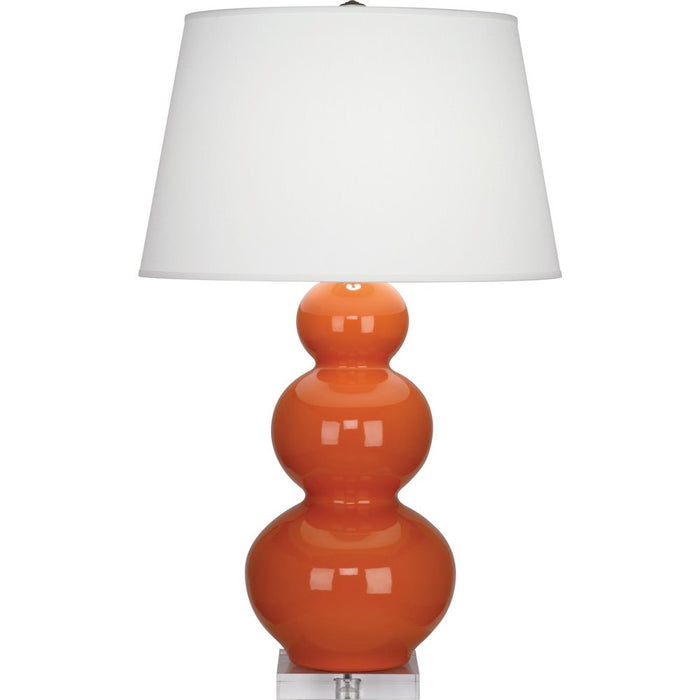 Triple Gourd Table Lamp with Lucite Base by Robert Abbey