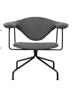 GamFratesi Masculo Swivel base Lounge Chair by Gubi