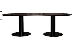 2.0 Elliptical Dining Table 100cm x 200 cm by Gubi