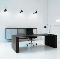 GOS3 Work/meeting table center cable management 160x750 cm by Gubi