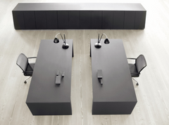 GOS3 Work/meeting table center cable management 120x250 cm by Gubi
