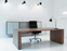 GOS3 Work/meeting table center cable management 120x500 cm by Gubi