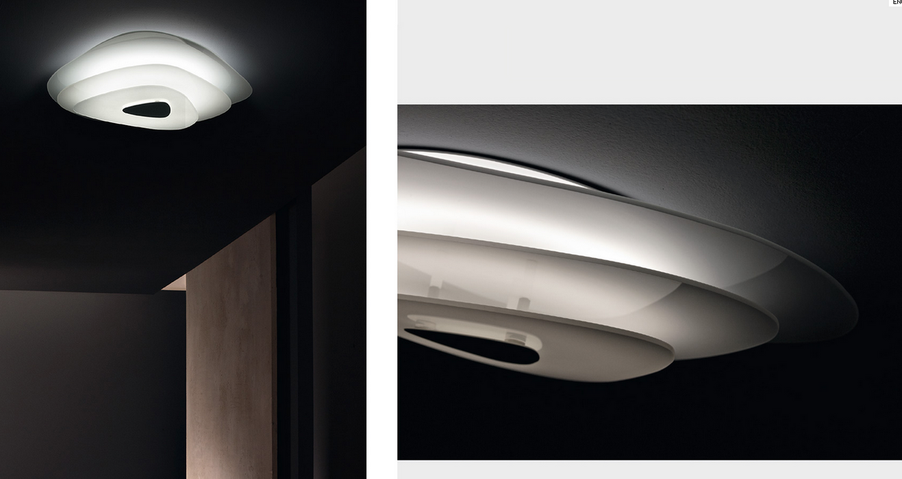 Smoke wall/ceiling light by Itama