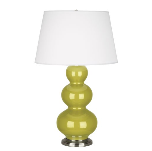 Triple Gourd Table Lamp Antique base by Robert Abbey