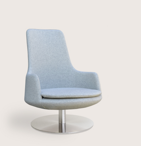 Dervish Lounge High Back Swivel by Soho Concept