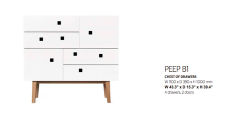 Peep B1 Chest of Drawers by Zweed