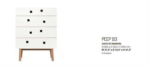 Peep B3 Chest of Drawers by Zweed