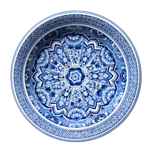 Delft Blue Plate by Marcel Wanders for Moooi Carpets