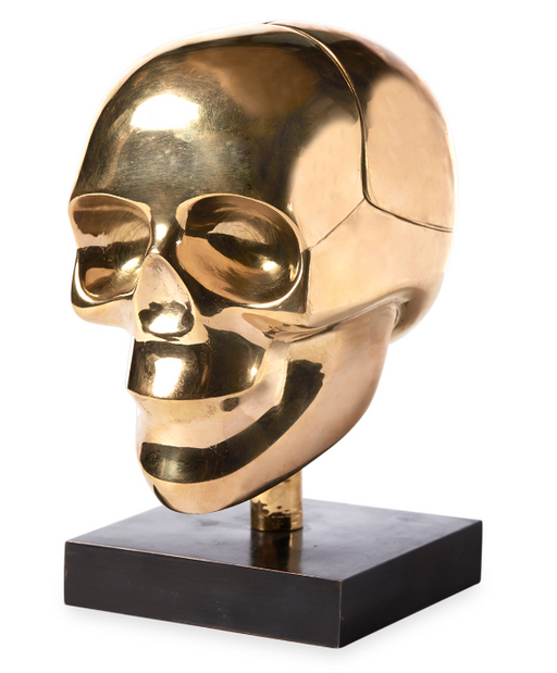 Brass Skull Box by Jonathan Adler