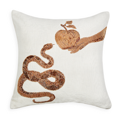 Muse Snake & Apple Pillow by Jonathan Adler