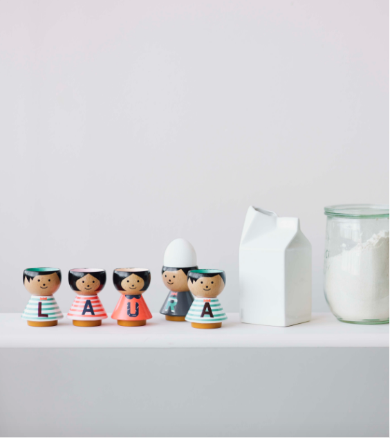 Bordfolk Egg Cups A to Z by Lucie Kaas