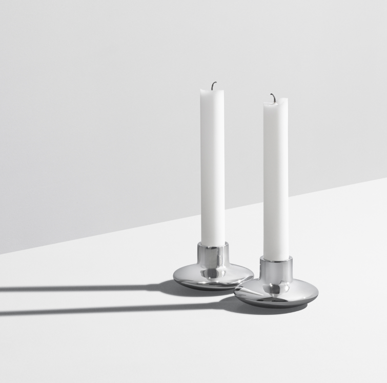 HK Candle Holder 2 Pcs by Georg Jensen