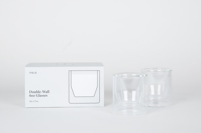 Double Wall 6oz Glass Set by Yield (Made in USA)