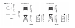 Carbon Counter / Bar Stool by Moooi
