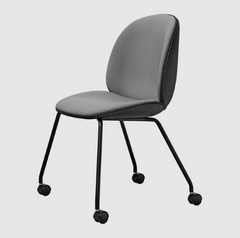 Beetle Chair with Castors Fully Upholstered by Gubi