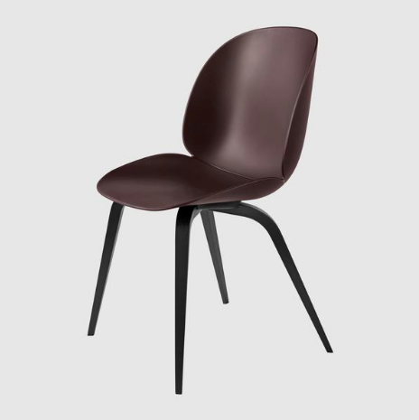 Beetle Dining Chair - Un-Upholostered, Wood Base by Gubi