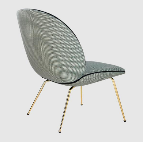 Beetle Lounge Chair Fully Upholstered w/ Conic Base by Gubi