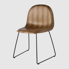 3D Sledge Base Dining Chair Unupholstered by Gubi