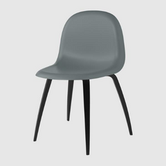 3D HiRek Dining Chair w/ Wood Base Unupholstered by Gubi