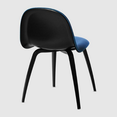 3D Wood Dining Chair w/ Front Upholstery by Gubi