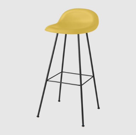 3D Bar/Counter Stool - Un-upholstered, Center Base by Gubi