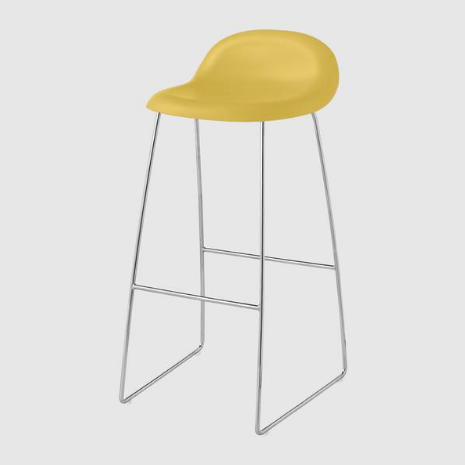 3D Bar/Counter Stool - Un-upholstered, Sledge Base by Gubi