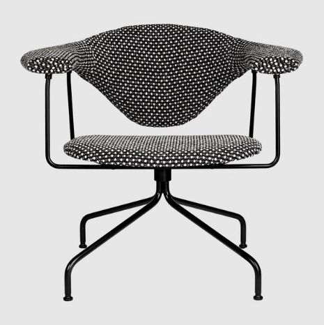 Masculo Lounge Chair - Fully Upholstered, Swivel Base by Gubi