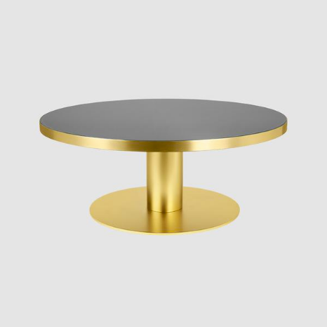 2.0 Coffee Table w/ Brass Base by Gubi
