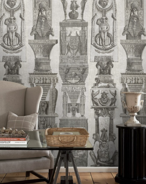 Egyptian Columns Wallpaper by Mindthegap
