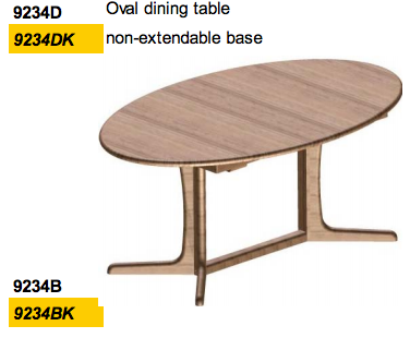 Oval Dining Table 9234 by Dyrlund