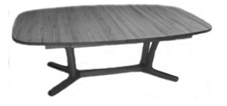 Elliptical Dining Table 9241/9242 by Dyrlund