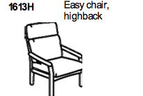 Highback Easy Chair 1613 by Dyrlund