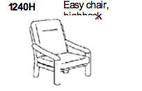 Easy Chair Highback 1240 by Dyrlund