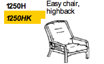 Easy Chair Highback 1250 by Dyrlund