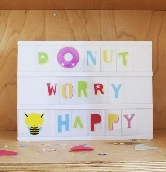 Funky Colour Lightbox Letter Set by A Little Lovely Company