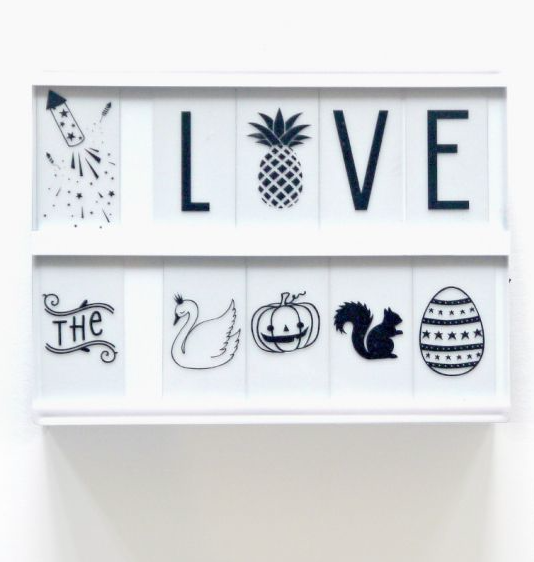Celebrations Lightbox Symbol Set by A Little Lovely Company