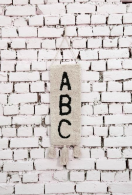 ABC Wall Hanging by Lorena Canals