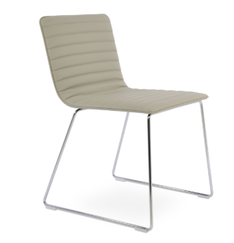 Corona Handle Back Wire Dining Chair - Fully Upholstered by Soho Concept