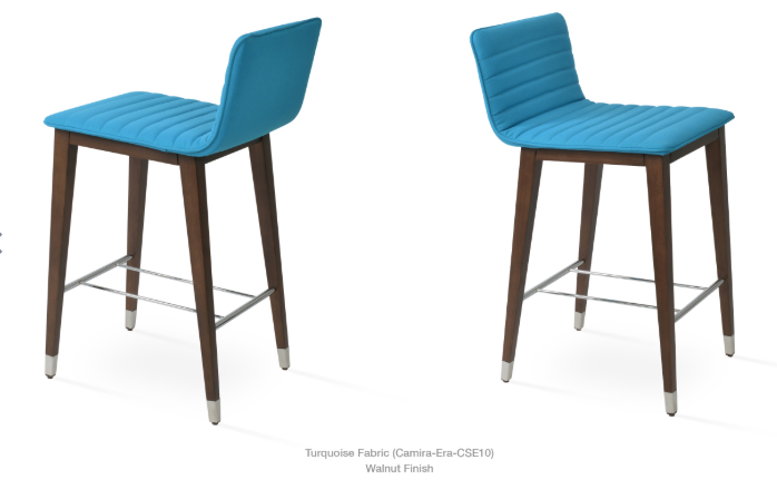 Corona Wood Bar/Counter Stool - Fully Upholstered by Soho Concept