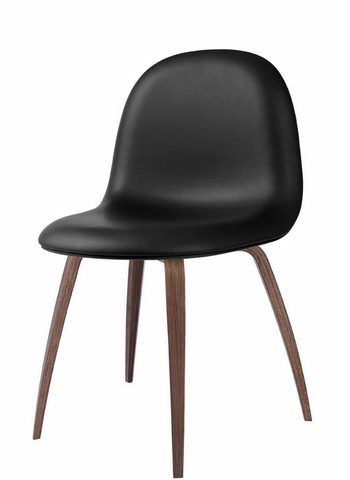 3D Dining Chair w/ Wood Base Fully Upholstered by Gubi