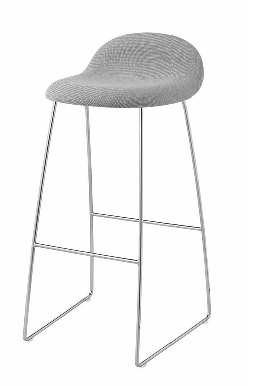 Gubi 32A (Front Upholstered) HiRek Counter stool by Gubi