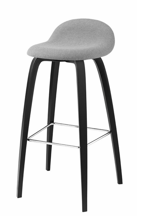 Pleasant 3D Wood Counter Stool W Front Upholstery By Gubi Theyellowbook Wood Chair Design Ideas Theyellowbookinfo