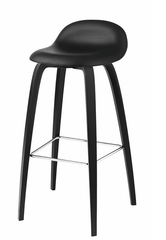 Gubi 32DA (Front Upholstered) Wooden Counter stool by Gubi