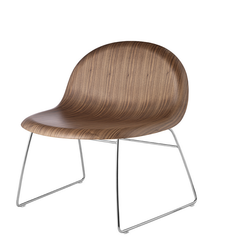 3D Lounge Chair w/ Sledge Base Unupholstered by Gubi