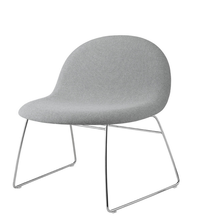 Gubi 42 (Front Upholstered) Wooden shell lounge by Gubi